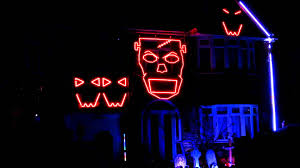 Halloween Town Characters 2015 by Margam Ave Halloween Light Show 2015