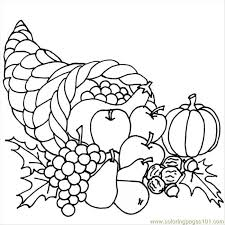 Full Size Of Coloring Pagenice Cornucopia 4263 Thanksgiving Page Large