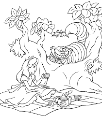 Alice And Wonderland Coloring Pages In To Download Print For Free Book