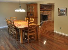 Dining Room With Brazilian Walnut Flooring