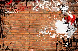 Graffiti brick wall stock illustration Illustration of grungy
