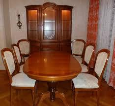 italienische stilmöbel kirschbaum wohnzimmer esszimmer 10 teile