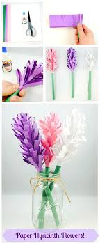 Easy Paper Hyacinth Flowers Three Materials Needed For This Fun Spring Craft Pr UK Arts Crafts