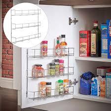 3 tier gewürz rack regal aufbewahrungshalter container organizer küche tür wand messer stapelbare flasche