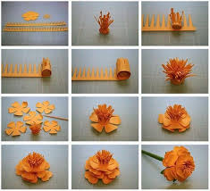 DIY Paper 3D Marigold Flower Tutorial Step By