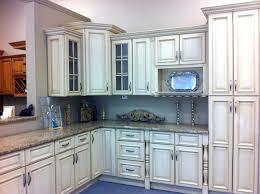 Antique White Kitchen Cabinets With Chocolate Glaze Black
