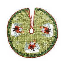 90cm Non Woven Christmas Cartoon Tree Skirts Santa Claus Elk Home Decoration Kit