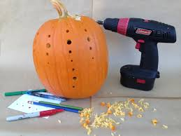 Drilled Pumpkin Designs by Pumpkins U0026 Power Drills 10 Creative Jack O U0027 Lantern Ideas