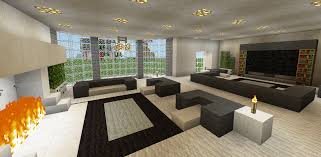 minecraft family living room and fireplace couch chair tv