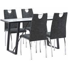vidaxl essgruppe esstischset esszimmergarnitur tischset sitzgruppe esszimmergruppe küchentisch esszimmertisch stühle kunstleder mehrere auswahl