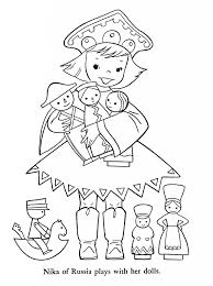 Kids Of The World Coloring Book