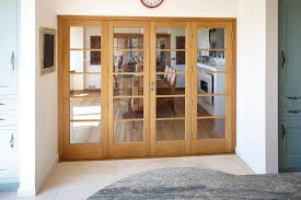 Bespoke Oak And Glass Kitchen Dining Room Bi Fold Doors Threshold