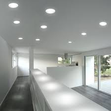 interior led recessed lights with stainless steel kitchen