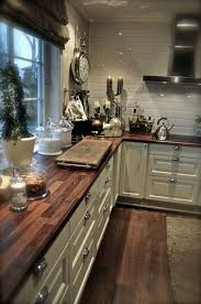 What If We Did All Wood Counter Tops Love The White Cabinets An I Want This In My Kitchen