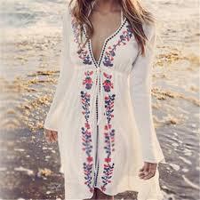 Vintage Swimwear Ladies Tunics Kaftan Beach Dress Wear