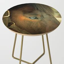 Horse Eye Close Up. Golden Age Painting Style. Side Table By ...