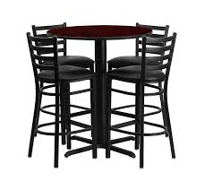 Realspace Broadstreet Contoured U Shaped Desk by Ff Outlet Round Bar Height Table Set With 4 Metal Bar Stools