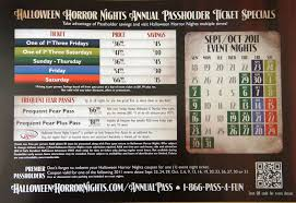 Halloween Horror Nights Frequent Fear Pass 2016 by Universal U0027s Fall 2011 Passholder Mailer Arrives Secrets Revealed