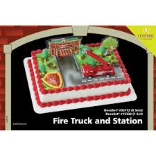 Fire Truck And Station DecoSet® 1/4 Sheet Cake Decorating ... Fire Engine Cake Shelia Childress Baked My Cake Anniversaire Truck Decorations Professional Cakes Food Nancy Ogenga Youree Truck Birthday Pinterest Cakes And Lindsays Custom Birthday Cfections Creations June 2012 Engine Topper Cookies Butterfly Robocar Poli Transformation This Is A Vanilla Sponge Decorated F Flickr