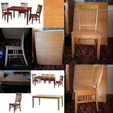 Gorgeous Modern Handcrafted Solid Maple Table And Chairs By Woodworks Of BC
