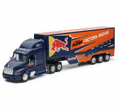 NEWRAY 1:32 Scale Peterbilt Red Bull KTM Race Team Truck DIE CAST ...