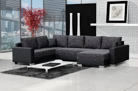 canapé cuir gris anthracite canapé angle droit convertible tissu chiné gris anthracite et noir