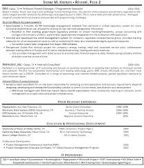 Sample Resume For Construction Project Manager Senior