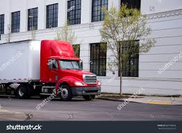 100 Aerodynamic Semi Truck Red Short Day Cab Stock Image Download Now