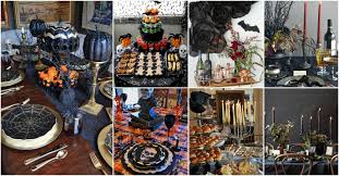 Tag Halloween Table Decorations