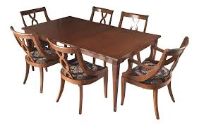 1950's Bernhardt Dining Table & Chairs - Set Of 9 Jet Set Ding Room Items Bernhardt Santa Bbara Includes Table And 4 Side Chairs By At Morris Home 78 Off Embassy Row Cherry Carved Wood Haven Chair Each 80 Gray Deco All Montebella 9 Piece Baers Design Couch Sale Interiors Keeley Of 2