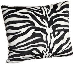 Decorative Couch Pillows Amazon by Amazon Com Brentwood Originals 18 Inch Zebra Fur Pillow Black