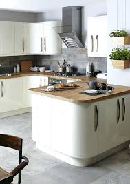 Cream Kitchen Flooring Ideas Highlight Your Kitchens Beautiful Curves To The Max With Contrasting Solid Wooden