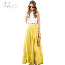 popular a line skirt floor yellow buy cheap a line skirt floor