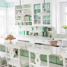 1940ish White Kitchen Cabinetry Contrasted By Bright Walls Evokes The Cheery Feeling Of Forties
