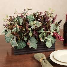 Grape Decor For Kitchen by Merlot Harvest Grape Leaf Table Centerpiece