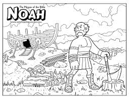 Noah Bible Coloring Page