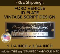 Ford Data Plate: Parts & Accessories | EBay Truck Vin Number Pictures 55 1955 Ford F100 Tag Plate Location Wiring Diagram Hidden Chev Pontiac Youtube 1954 Original Window Sticker Kamos Vin Decoder For 1979 F150 Enthusiasts Forums 2017 Xl 4dr Supercrew 4wd Ft Sb 35l 6cyl 6a 1960 Custom Pick 1949 To 1953 Passenger Car Decoding Chart 1966 Mustang Autos Gallery Your 1969 Fordificationcom Decode 6566 Fordificationinfo The How Locate The Number On A 1971 1972 1973 Whip