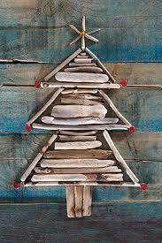 Driftwood Christmas Trees Cornwall by Julia Bearcroft Photo Xmas Cards