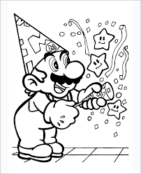 Celebrating Super Mario Coloring Pages