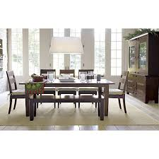 basque java 82 dining table basque crates and barrels