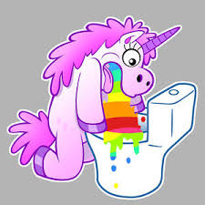 Image Is Loading Rainbow Unicorn Vomit Puke 10cm Decal