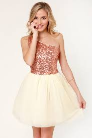 Fancy Rose Gold Dress