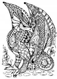 Homely Design Dragon Coloring Pages For Adults Myths Legends