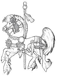 Coloring Pages Horses Spirit Free Carousel Horse Of Jumping Running