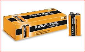 Pilha Alcalina DURACELL Industrial 9V Caixa 10 Pilhas