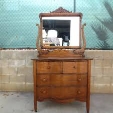 Tiger Oak Dresser With Mirror by Complete Vanity Units Beautiful Tiger Oak Vintage Dresser With