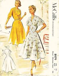 Vintage 50s Dress Pattern McCalls 8979 By ThePatternSource