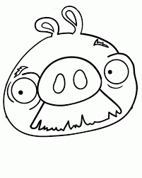 Moustache Pig Angry Birds Coloring Pages