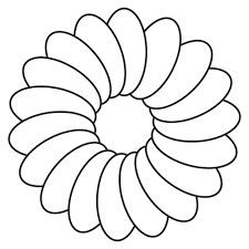 Flowers Outlines For Colouring Kids Coloring