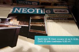 costco sale neo tile groove chagne tile 14 99 frugal
